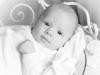 Santina - Babyfoto schwarz/weiss Mädchen 2 Monate